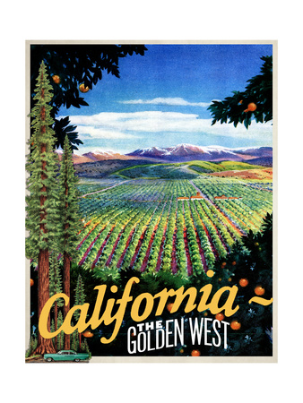 California - The Golden West Giclee Print
