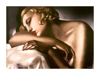 Dormeuse (detail) Poster von Tamara De Lempicka