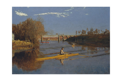 The Champion Single Sculls (Max Schmitt in a Single Scull), 1871 Giclee Print by Thomas Cowperthwait Eakins