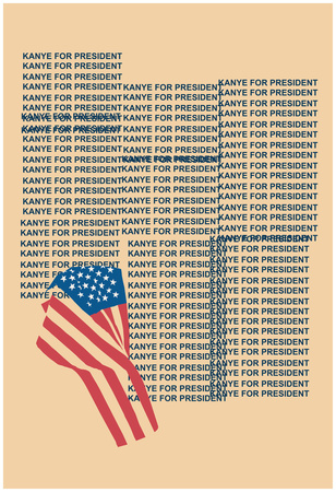 Kanye For Prez 2016 (Beige) Plakát