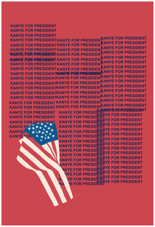 Kanye For Prez 2016 (Red) Posters