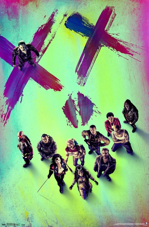 Suicide Squad film main poster of characters lineup