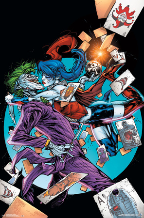 Harley Quinn Suicide Squad, The Joker, Task Force X D.C. Comics poster art