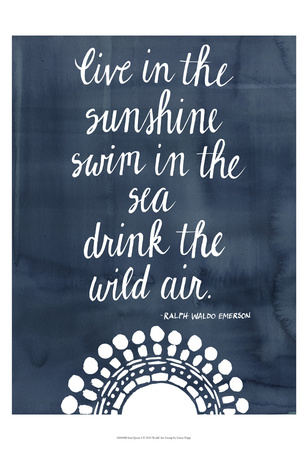 Sun Quote I Posters by Grace Popp