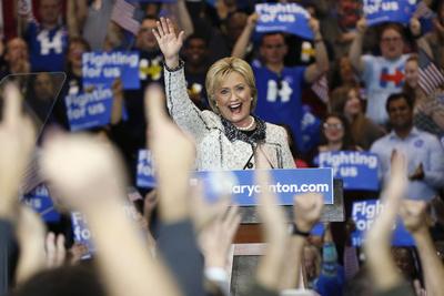 DEM 2016 Clinton Photographic Print by Gerald Herbert