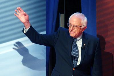 DEM 2016 Clinton Sanders Photographic Print by Gerald Herbert