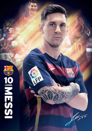 Barcelona Messi 15/16 Prints