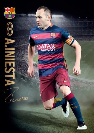 Barcelona Iniesta Action 15/16 Posters