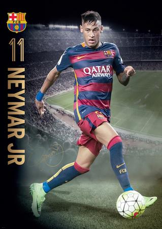 Barcelona Neymar Action 15/16 Posters