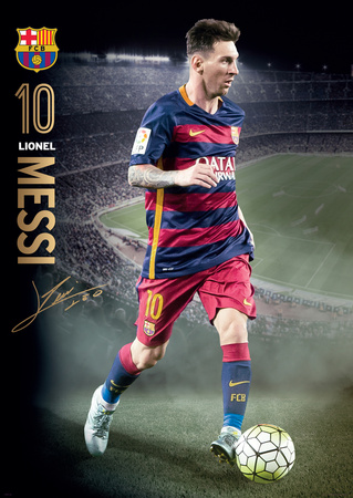 Barcelona Messi Action 15/16 Print