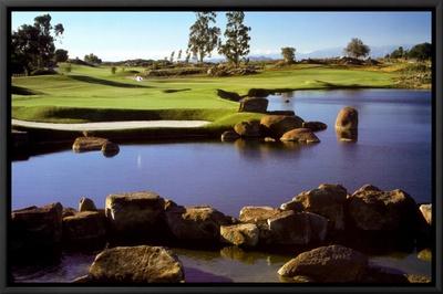 Leadership: Golf Framed Canvas Print