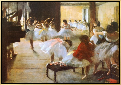 Ecole de Danse Framed Canvas Print by Edgar Degas