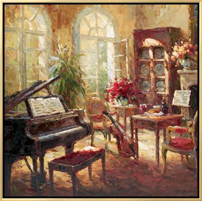 Musical Framed Canvas Print by Nikolai Rimsky