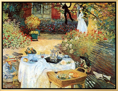 Le Dejeuner Framed Canvas Print by Claude Monet