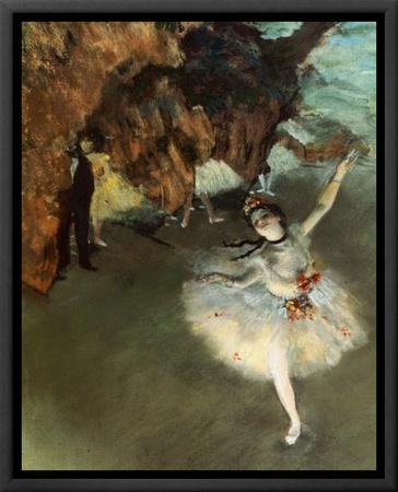 The Star Framed Canvas Print by Edgar Degas