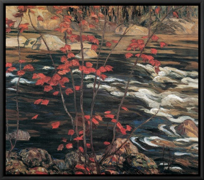 The Red Maple Framed Canvas Print by A. Y. Jackson