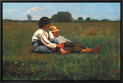 Boys in a Pasture, 1874 Framed Canvas Print by Winslow Homer