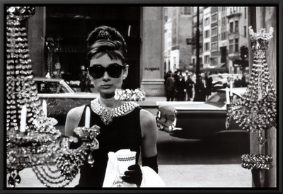 Audrey Hepburn Framed Canvas Print
