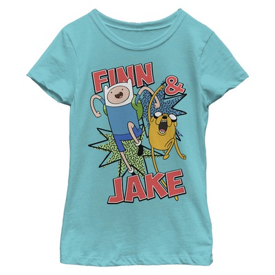 Young Girls: Adventure Time- Jake And Finn T-shirts