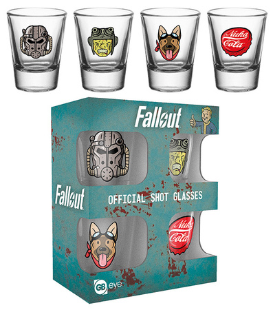 Fallout 4 - Icons Shot Glass Set Originalt