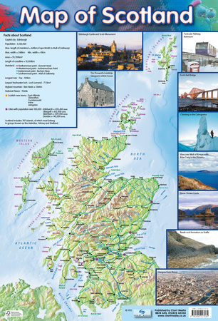 Map Of Scotland Posters