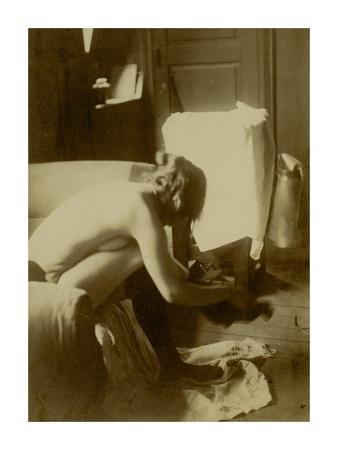 Seated Nude Art by Edgar Degas