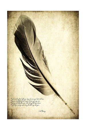 Feather on the Wind IV Poster by Honey Malek