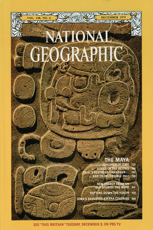 Cover of the December, 1975 National Geographic Magazine Photographic Print by Otis Imboden