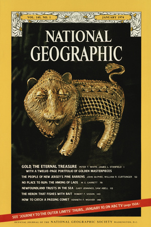 Cover of the January, 1974 National Geographic Magazine Photographic Print by James L. Stanfield