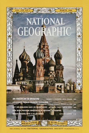 Cover of the March, 1966 National Geographic Magazine Photographic Print by Dean Conger