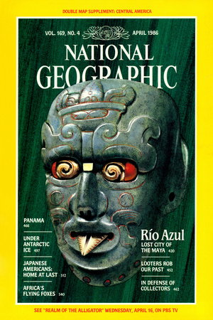 Cover of the April, 1986 National Geographic Magazine Photographic Print by William H. Bond