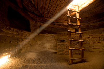 A Reconstructed Kiva in a Cliff Dwelling known as Spruce Tree House in Mesa Verde National Park Photographic Print by Phil Schermeister