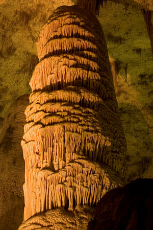 A Massive Column, the Giant Dome, Within the Big Room in Carlsbad Caverns National Park, New Mexico Photographic Print by Phil Schermeister
