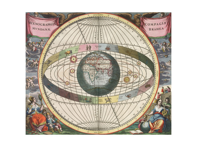 The Universe of Brahe, Harmonia Macrocosmica, 1660 Giclee Print by  Science Source