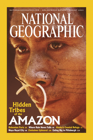 Cover of the August, 2003 National Geographic Magazine Photographic Print by Nicolas Reynard