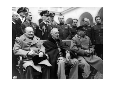 Churchill, Roosevelt and Stalin at Yalta, 1945 Photographic Print by  Science Source