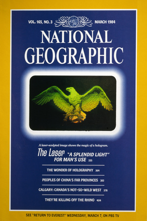 Cover of the March, 1984 National Geographic Magazine Photographic Print