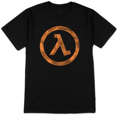 Half Life 2- Distressed Lambda Logo T-Shirt