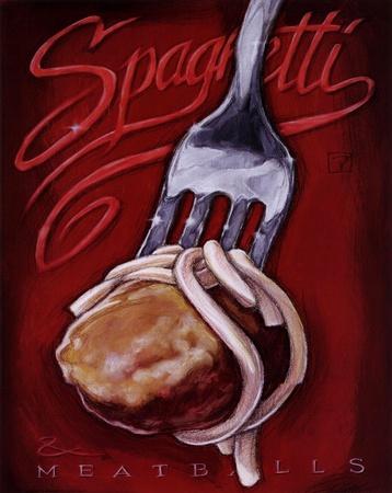 Spaghetti Meatballs Art by Darrin Hoover