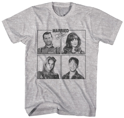 Married With Children- Family Squares T-shirts