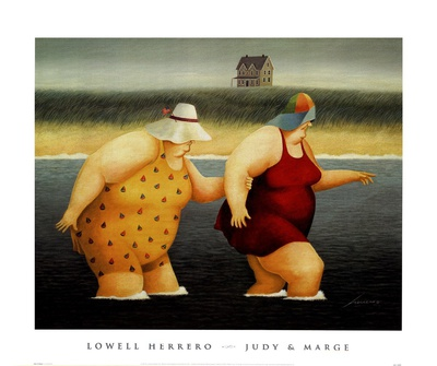 Judy and Marge Prints by Lowell Herrero