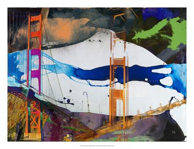 San Francisco Bridge Abstract I Giclee Print by Sisa Jasper