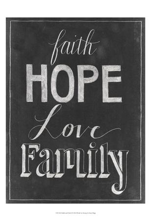 Chalkboard Faith I Prints by Grace Popp