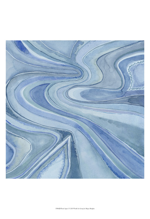 Pastel Agate I Art by Megan Meagher