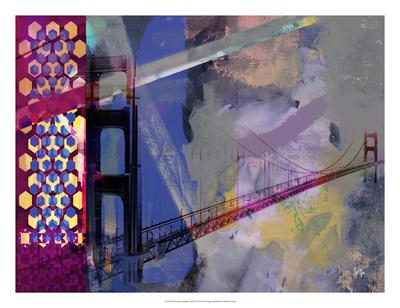 San Francisco Bridge Abstract II Giclee Print by Sisa Jasper