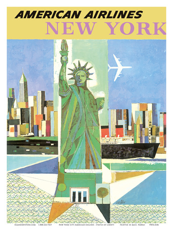 New York, USA - American Airlines - Statue of Liberty Prints by  Webber