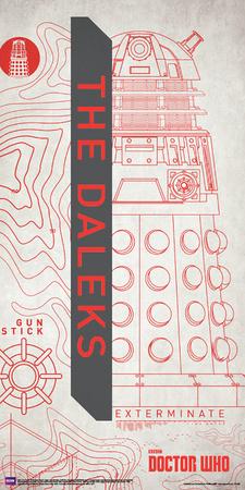 Doctor Who- Dalek Outline Print