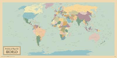 World Map- Political Posters