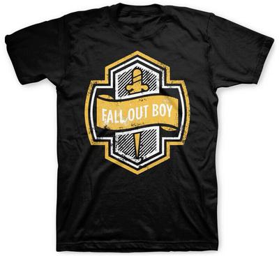 Fallout Boy- Dagger Shield Shirts
