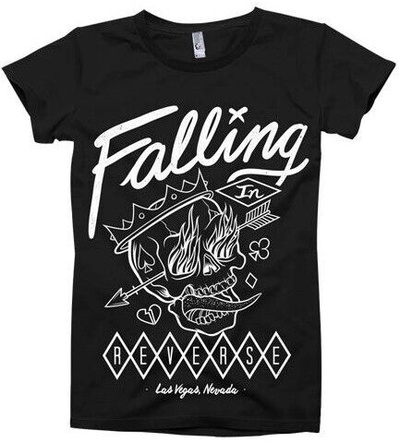 Falling In Reverse- Flaming Skull T-shirts